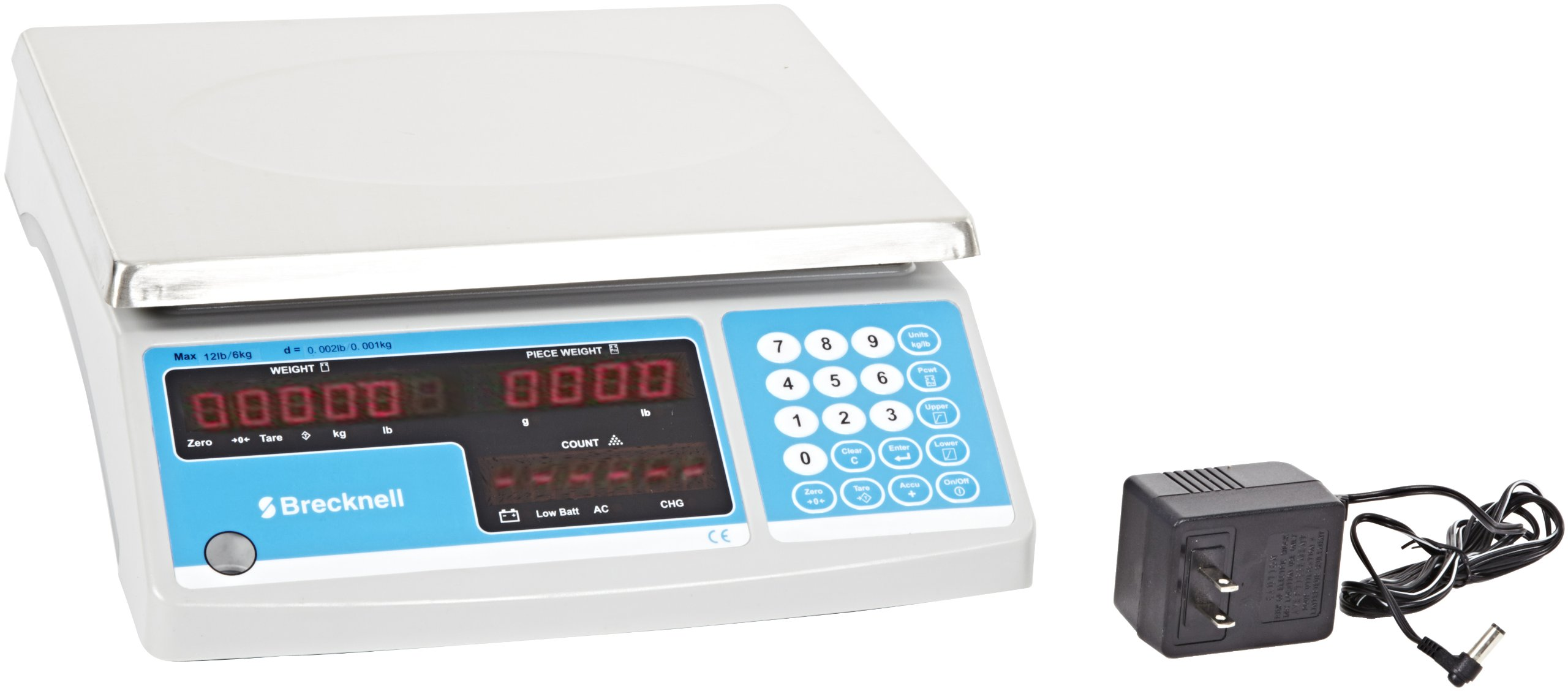 Salter-Brecknell B120 Electronic Counting Scale with LED Display, 8-3/4'' Length x 11-1/2'' Width x 1/2'' Height, 30lbs Capacity