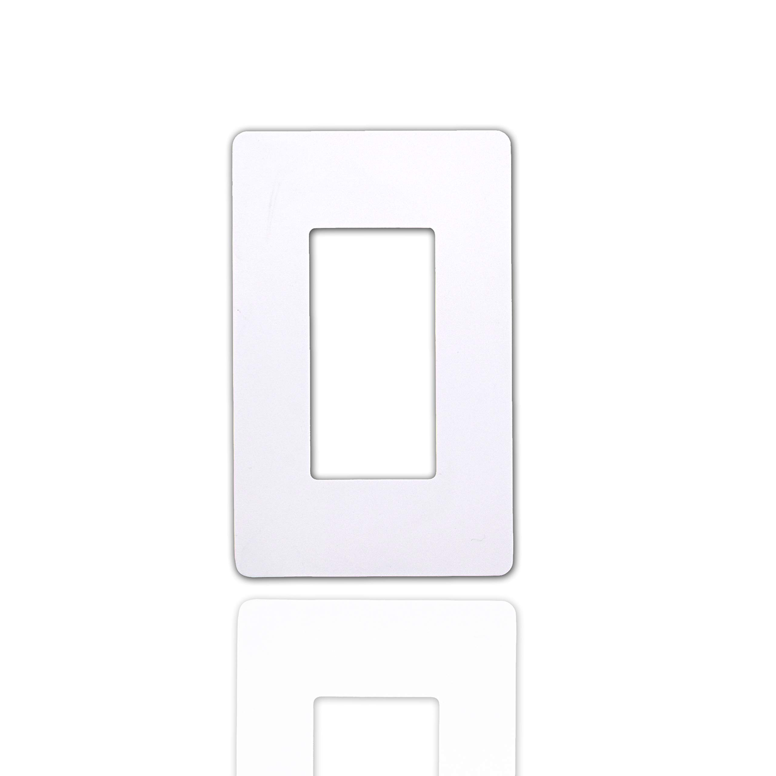 (20 Pack) NEXGEN 1 Single Gang Screwless Decorator, Wall Plate, Electrical Outlet Cover, Durable Polycarbonate, Compatible with any Outlet, White Finish