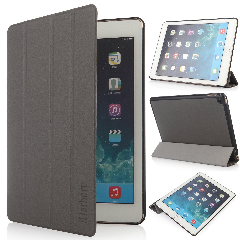 全商品オープニング価格! iHarbort® iPad air 2 Version) (iPad 6) 軽量スタンド機能付ケース(自動ウェイク air/スリープ機能) ブラック (iPad air 2(2014 Version), グレー) iPad air 2(2014 Version) ブラック B00ODKYPF4, 半田市:d1143e9e --- a0267596.xsph.ru