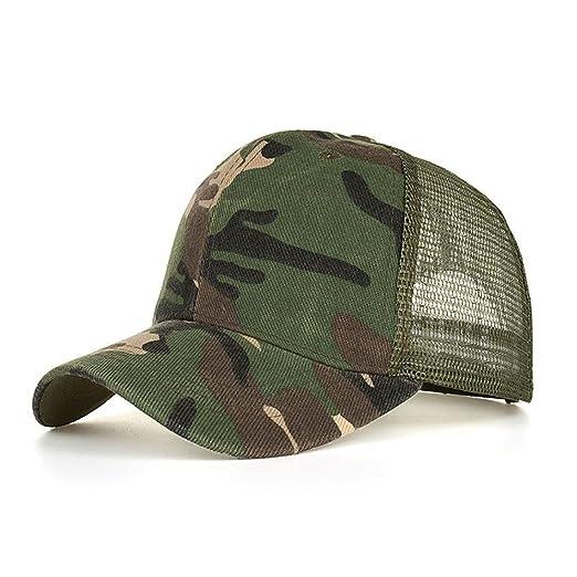 LMMVP Sombrero Sombreros de Malla de Verano Gorro de Camuflaje para Hombres  Mujeres Casual Sombreros de Hip Hop Béisbol Gorras (B)  Amazon.es  Deportes  y ... 16bfe156029