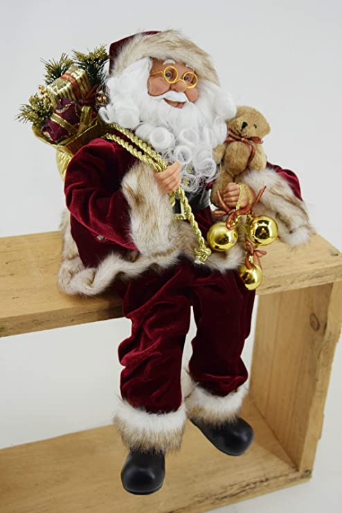 Babbo Natale 40 Cm.Ld Natale Decorazione Dekobote Decorazioni Di Natale Babbo