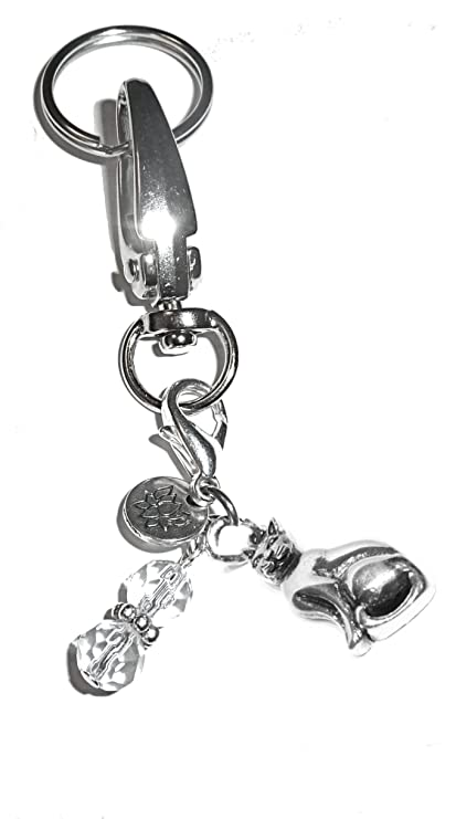 Amazon Com Message Charm Key Chain Ring Womens Purse Or Necklace