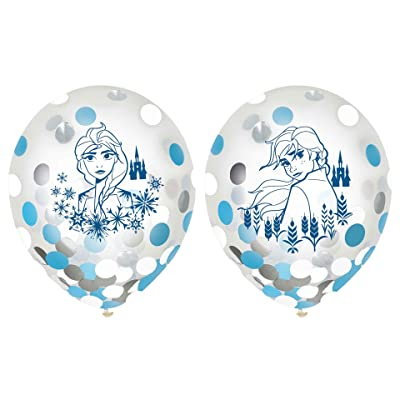 "Amscan Frozen 2 Birthday, Latex Party Confetti Balloons, 12"", 6 Ct.: Toys & Games"