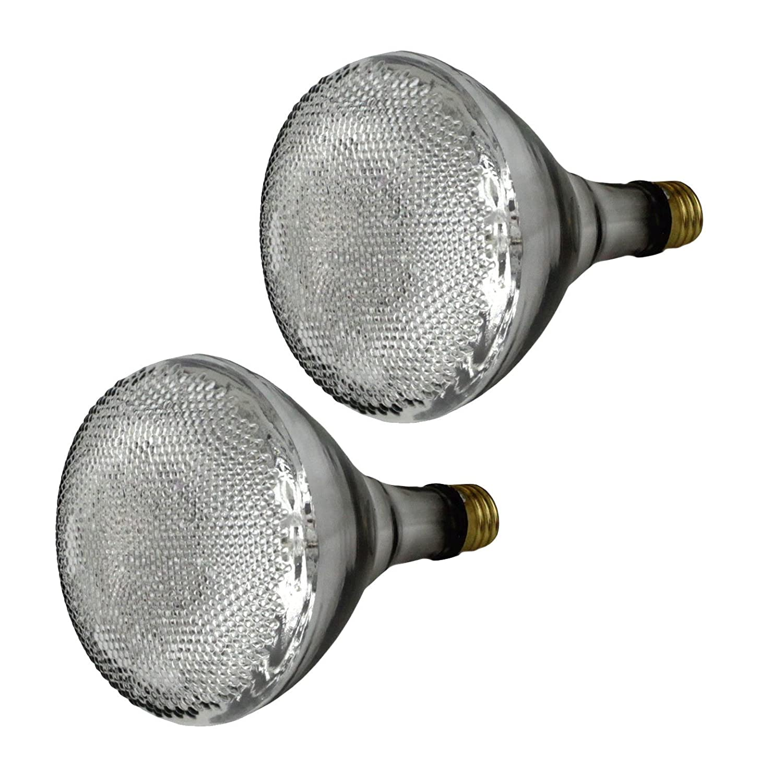 Set of 2 GE Lighting 77757 Energy Efficient Halogen 65 Watt 90 watt replacement 1100 Lumen BR40 Floodlight Bulb with Medium Base
