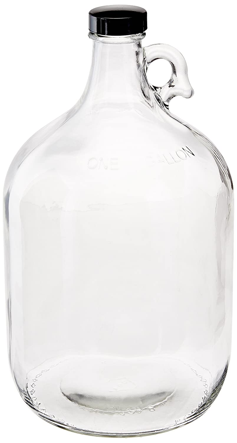 Home Brew Ohio 70-1SVE-5J2I Glass Water Bottle Includes 38 mm Polyseal Cap, 1 gallon Capacity