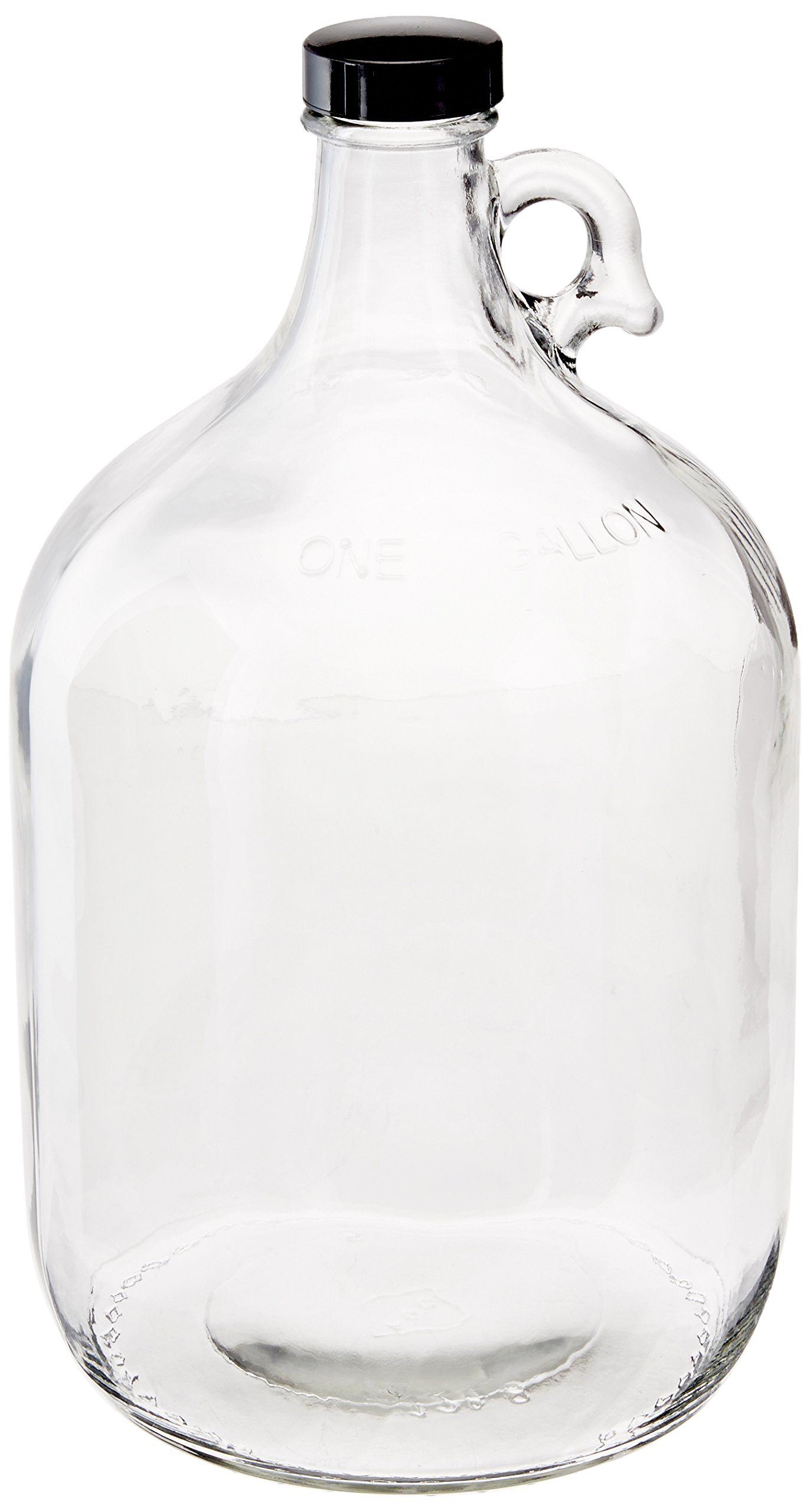 Home Brew Ohio Glass Water Bottle Includes 38 mm Polyseal Cap, 1 gallon Capacity