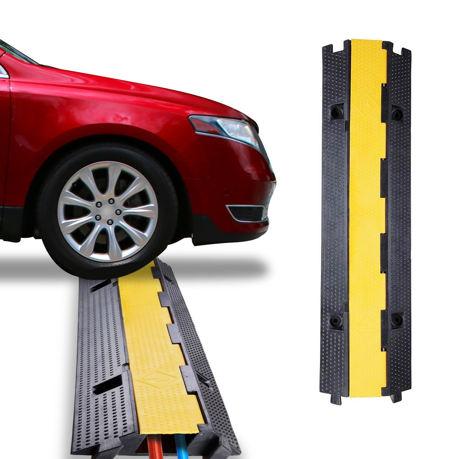 Koval Inc. Warehouse Cable Protector Ramp Traffic Wire Cover (1 Channel)