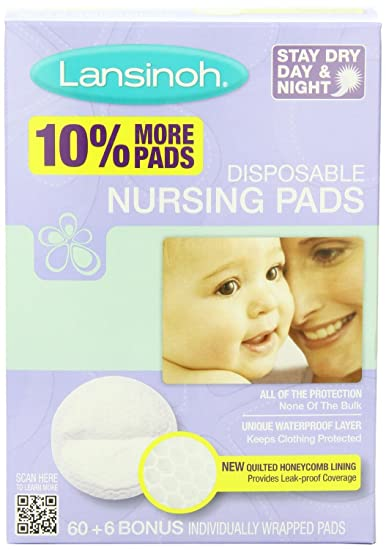 c87b2dc8552b1 Amazon.com   Lansinoh Nursing Pads Stay Dry 60 Each ( Pack of 8 )   Nursing  Bra Pads   Baby