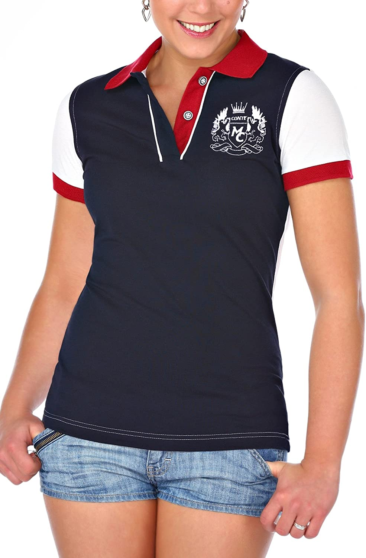 M.Conte Women Polo-Shirt Camisa Blusa de Polo para Las Mujeres ...