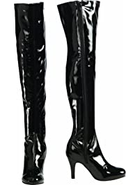 Rubies Costume Secret Wishes Thigh-High Boots with Stiletto Heels, Black, Medium