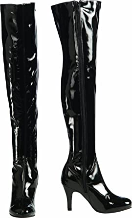 Amazon.com: Secret Wishes Thigh-High Boots With Stiletto Heels ...