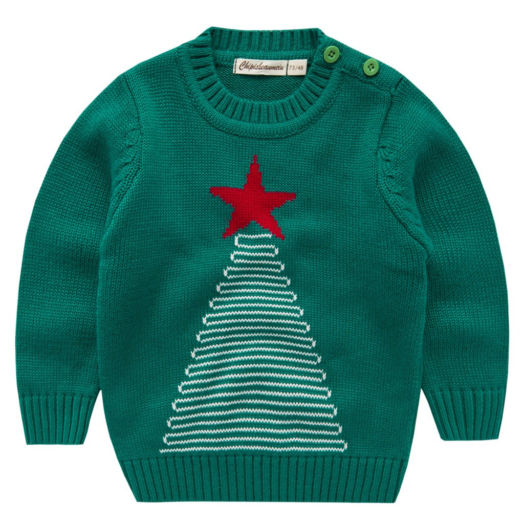 Boys Christmas Knitted Jumper Reindeer Sweater Toddler Novelty Crewneck Pullover Vine Trading Co. Ltd CQBWY001V