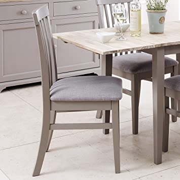 Florence High back upholstered chair  Dove Grey kitchen dining chair with  thick cushion seat Florence High back upholstered chair  Dove Grey kitchen dining  . Grey Upholstered Dining Chairs. Home Design Ideas