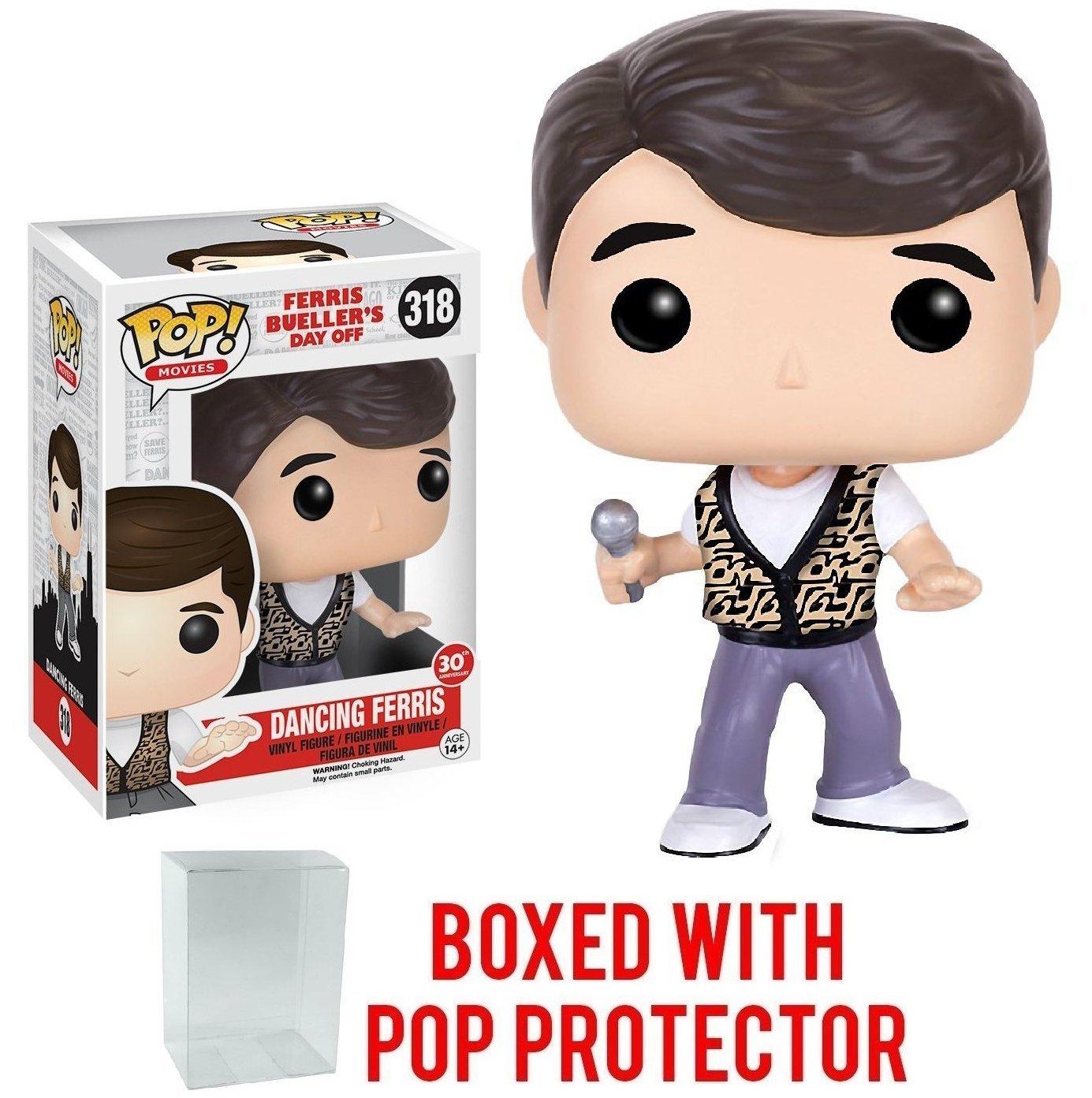 Bundled with Pop Box Protector Case Movies: Ferris Buellers Day Off Dancing Ferris Vinyl Figure Funko Pop