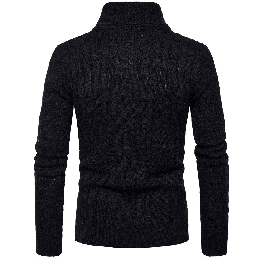 MISYAA Sweaters for Men Long Sleeve Muscle Shirt Masculinous Sweatshirt Winter Undershirt Solid Activewear Mens Tops