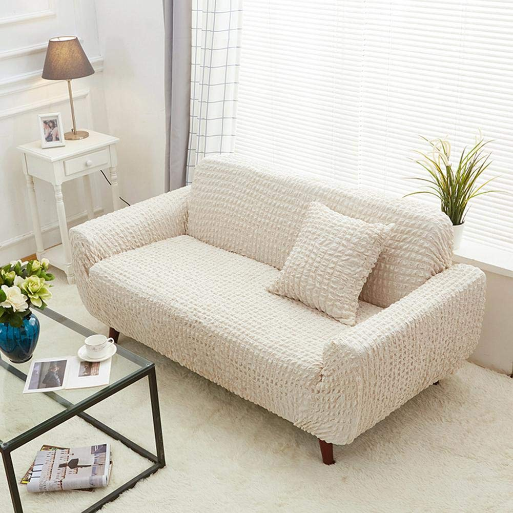 Pet Elastic Strap Couch Slipcover, Double 145-180CM Four Seasons Thickened Full-Covered Cloth Non-Slip Sofa Cover
