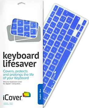iCover Lifesaver - Protector para teclados de Apple, color azul: Amazon.es: Informática