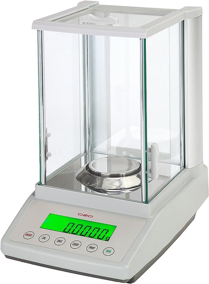 dzd df324 Báscula de análisis 0,0001 g hasta 320 g con fuerza kompensations Sensor, báscula de laboratorio: Amazon.es: Oficina y papelería