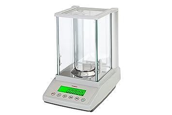 dzd df124 Báscula de análisis 0,0001 g hasta 120 g con fuerza kompensations Sensor, báscula de laboratorio: Amazon.es: Oficina y papelería
