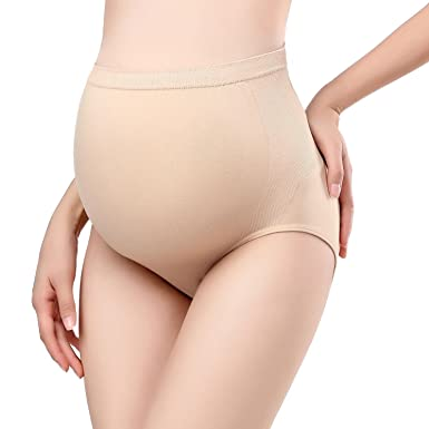 3b2d8d6ca19 Picotee Women s Maternity Underwear Pregnancy Panties High Waist Full  Coverage Over Bump Belly Support Briefs(