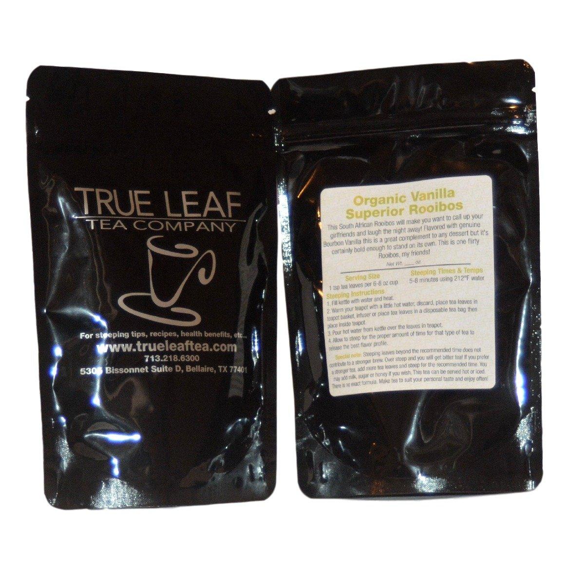 True Leaf Tea Organic Vanilla Superior Rooibos Tea 8 OZ
