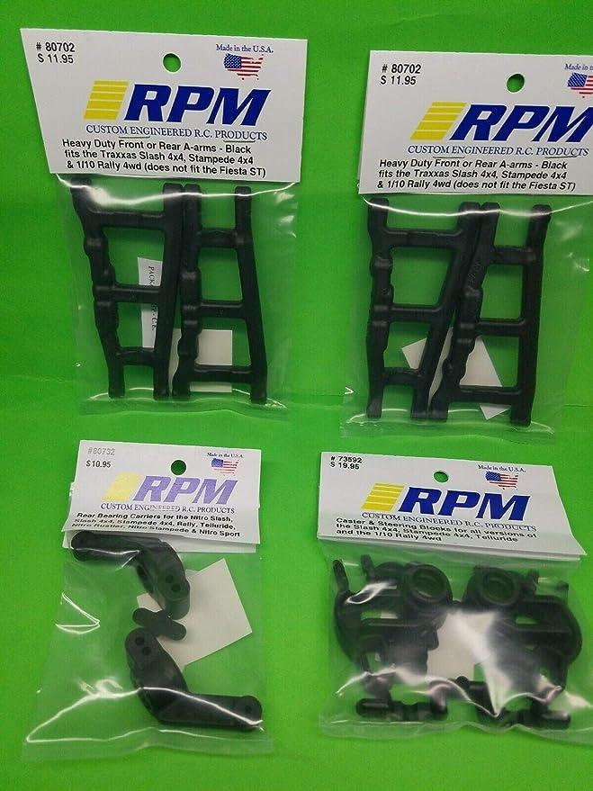 RPM 80702 Front//Rear A-Arms Black Slash//Stampede 4x4 Black HRP Distribution RPM80702