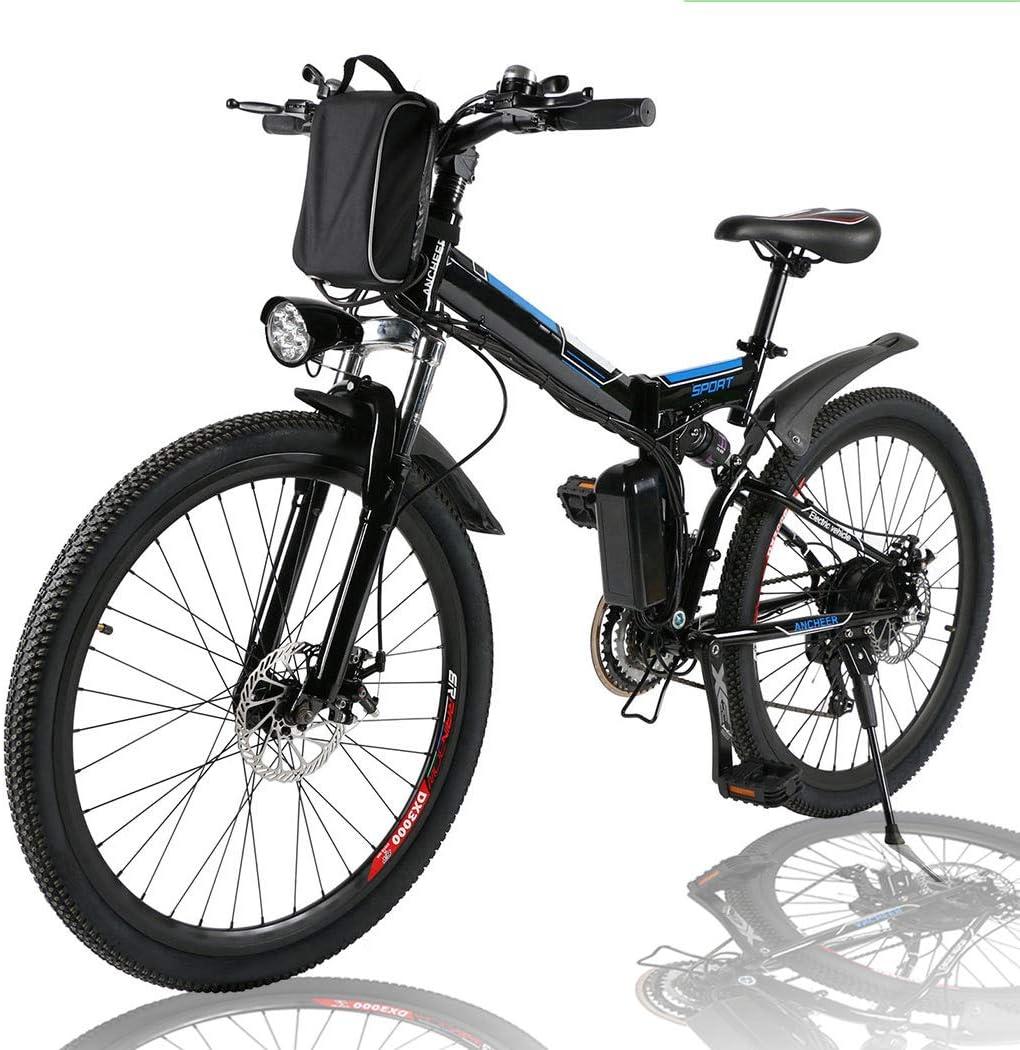 Angotrade 26 inch Electric Bike Folding Mountain E-Bike