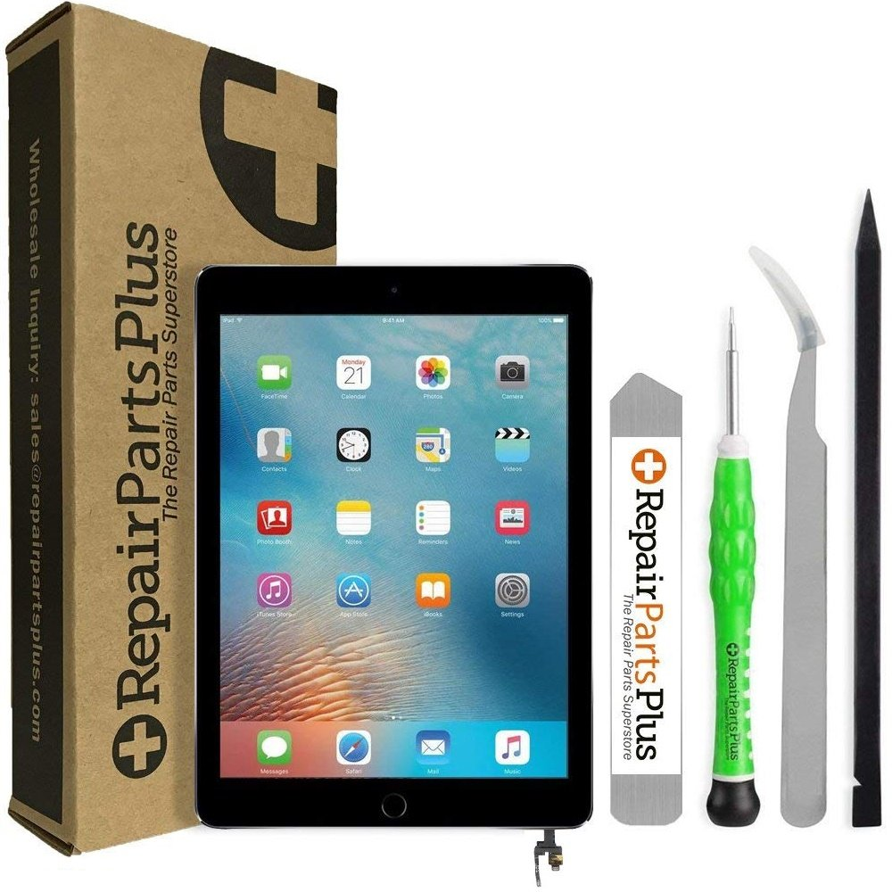 iPad Mini 3 Screen Replacement LCD, Glass Digitizer and Home Button Premium Kit by RepairPartsPlus (Black)