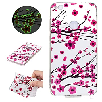 coque huawei p8 lite 2017 fluorescent rose