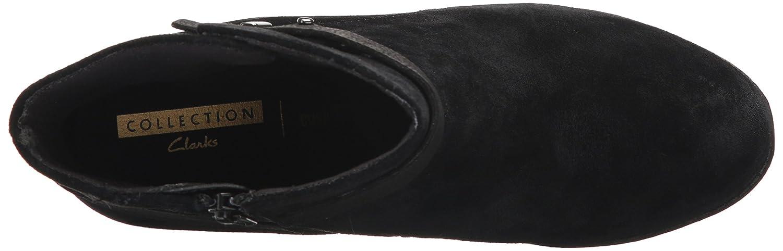 CLARKS Women's Enfield Sari Ankle Bootie B01N0VPDF0 5 B(M) US|Black Suede