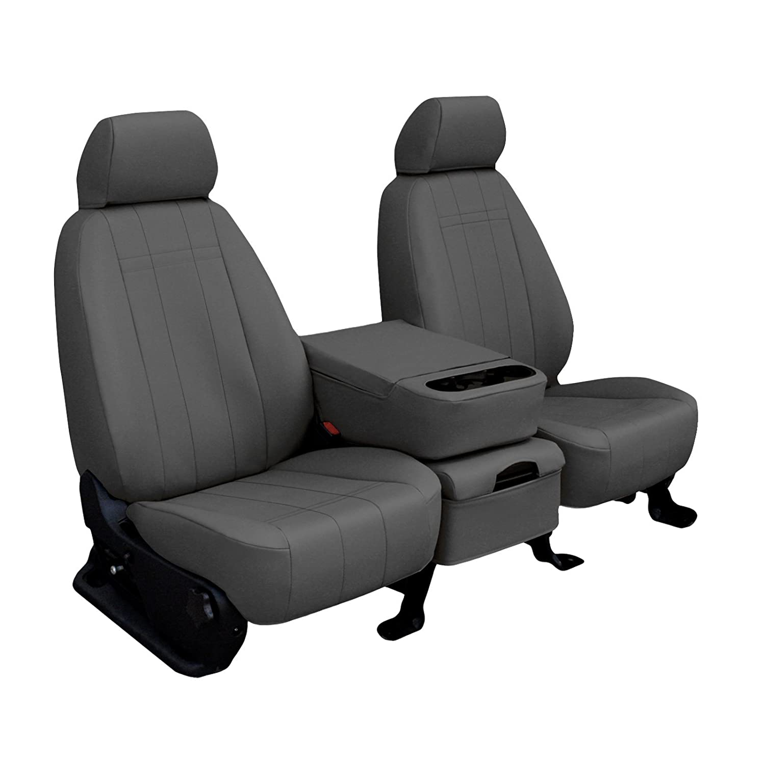 2001 F-150 Lariat X-Cab Driver Side Bottom Replacement Leather Seat Cover Gray
