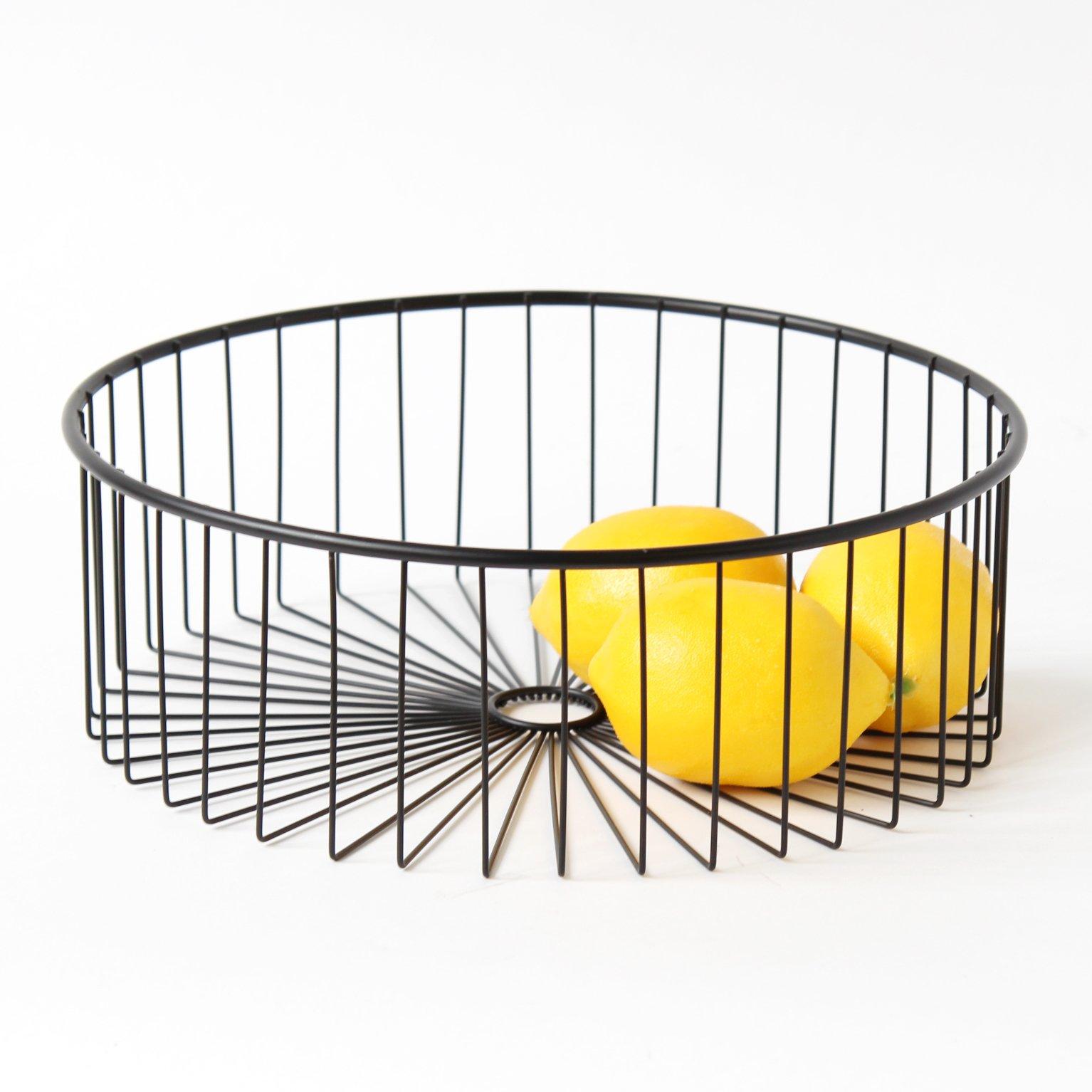 Mesa Fruit Basket in Matte Black - Lea