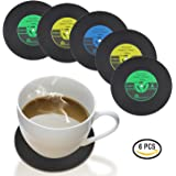 Hirun Silicone Drink Coasters, Large, Set of 6
