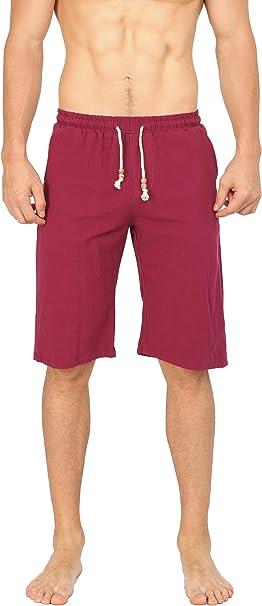 Mens Navy Casual Cotton Summer Classic Fit Beach Drawstring Elastic Waist Shorts 2019