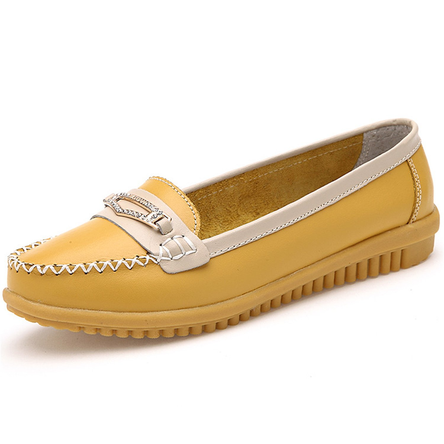 Women Loafers Non-Slip Mother Shoes Women Ballet Flats Shoes Woman Slip-On Shoes