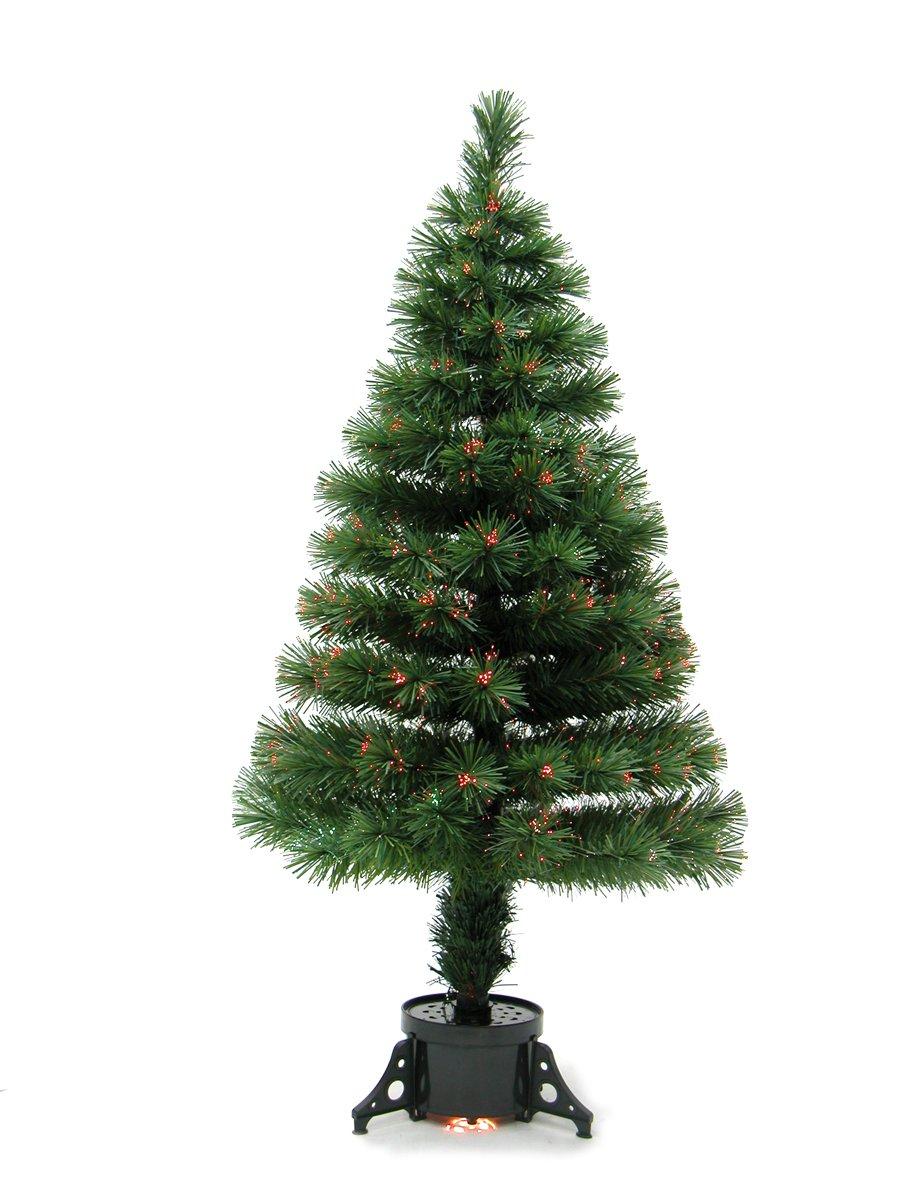Amazon.de: Heitronic Fiberoptik Weihnachtsbaum mit Farbwechsel (Höhe ...