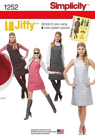 Simplicity 1252 Größe H5 Misses und Miss Petite Kleid oder Jumper ...