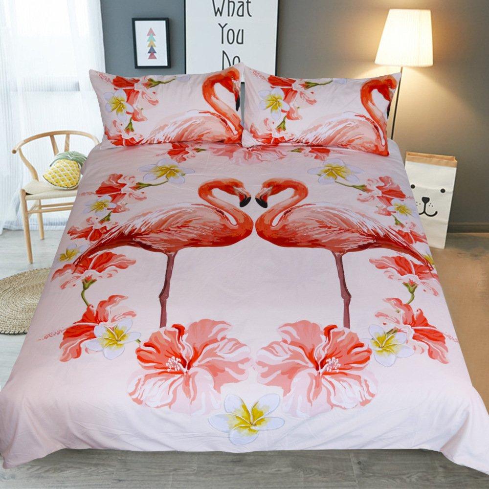 flamingo bed set