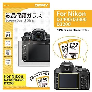 ORMY 0.3mm Protector de pantalla de cámara para Nikon D3400 ...