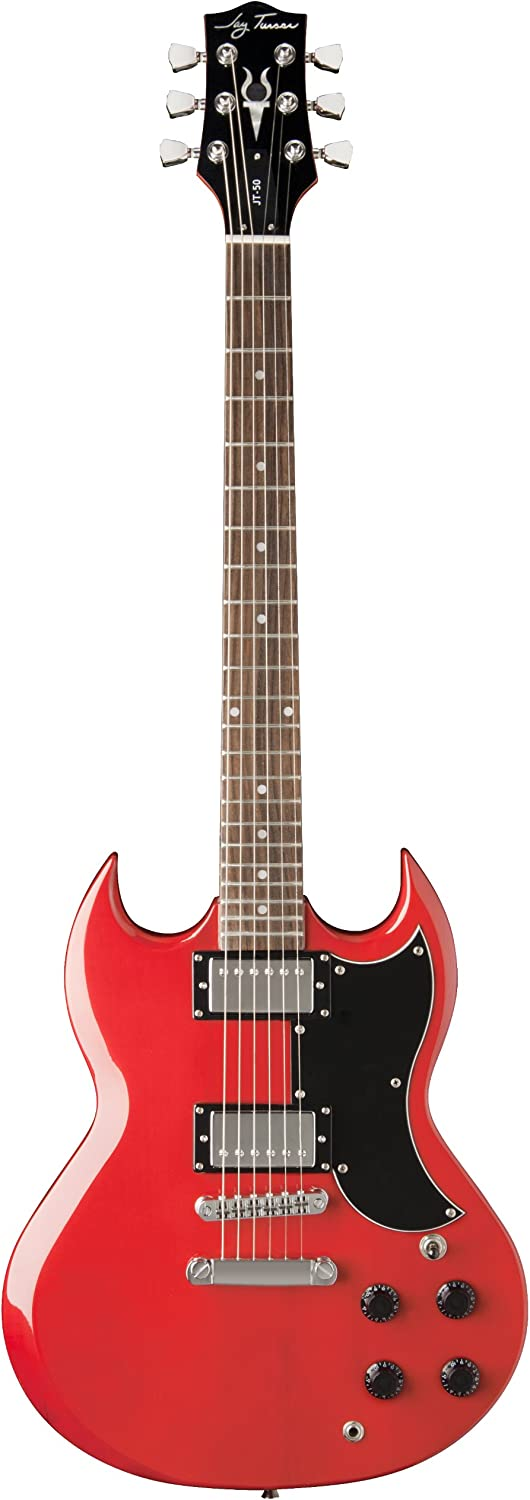 Jay Turser 50 Series Ams-jt-50-tr Electric Guitar,Transparent Red