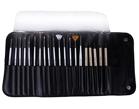 Buy Looks United 15 Nail Art Brush 5 2 Way Dotting Tool With Carry