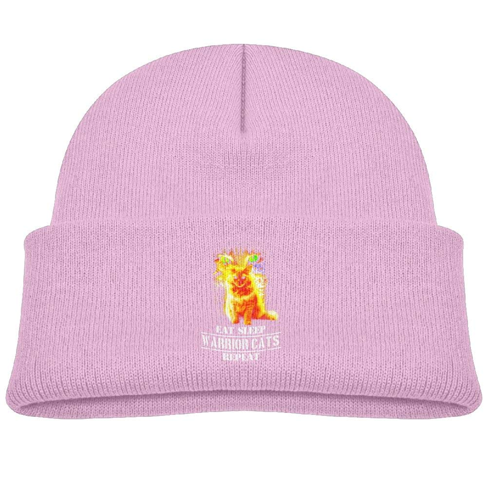 Eat Sleep Warrior Cats Repeat Infant Knit Hats Toddler Beanies Cap