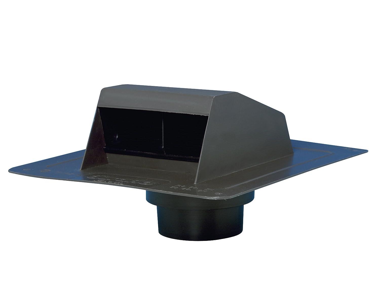Duraflo 6013BL Roof Dryer Vent Flap with ATT Collar, Black