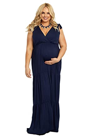 f06ba01e27869 PinkBlush Maternity Bohemian Plus Size Maxi Dress at Amazon Women's ...
