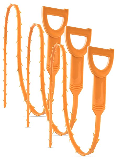 Bastex 3 Pack Drain Snake Clog And Hair Remover Cleaning Tool  For Kitchen,  Bathtub And All Sinks     Amazon.com