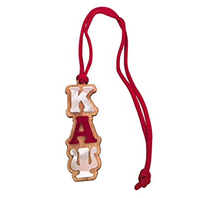 Kappa Alpha Psi #MED-O Oak Wood Wooden Backed Mirror Letter Greek Medallion 16 Inch Long Tiki Necklace Nupe: Everything Else