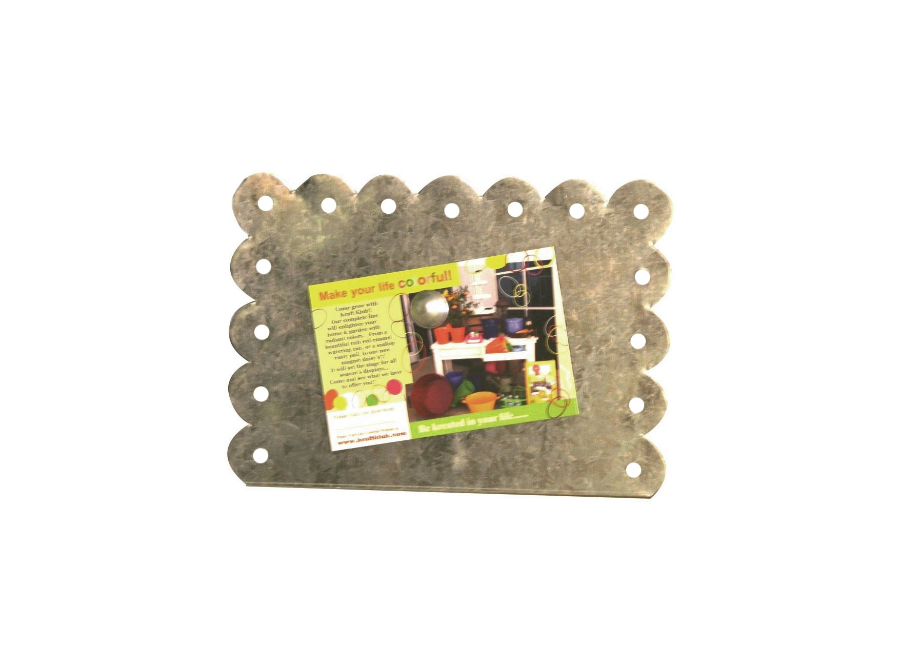 Galvanized Horizontal Scalloped Magnetic Picture Frame
