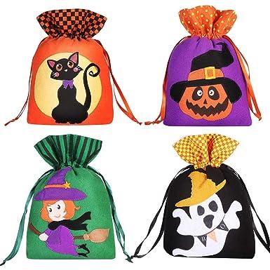 Hemoton 8 UNIDS Bolsas de lazo de regalo de Halloween Tratar ...