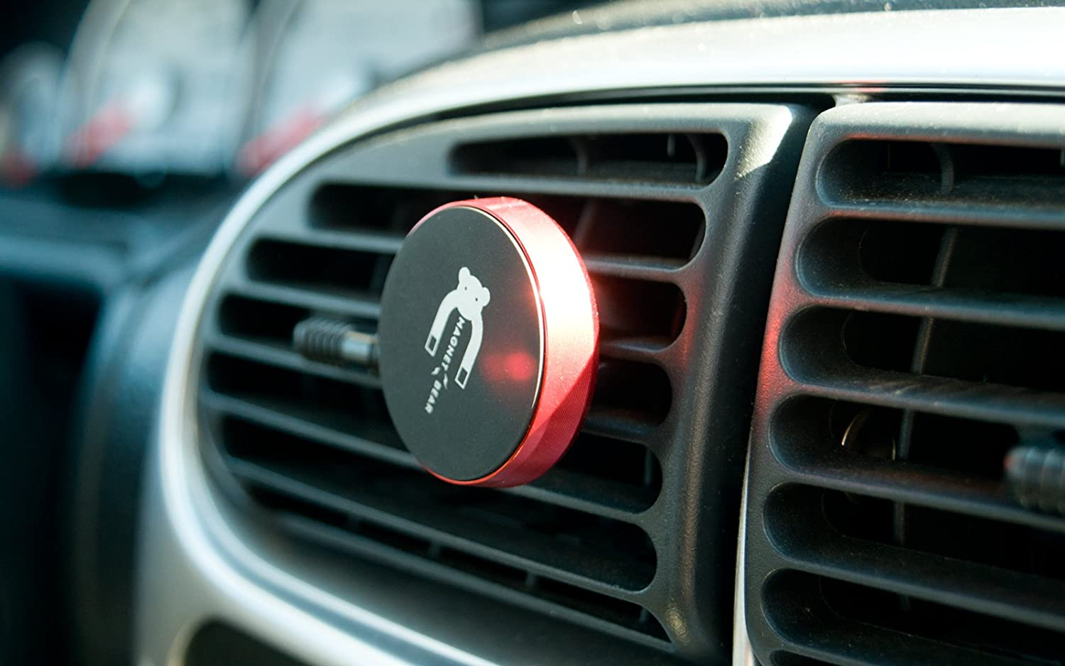 Red Vent Holder, 2 Black Ring Universal Magnetic Cell Phone Car Air Vent Mount Holder /& Rotating Magnet Ring Stand for iPhone X 8//8 Plus 7//7 Plus 6//6 Plus SE Samsung S6 S8 Note 8 ZTE GPS MP3 PDA International Wireless RHCB