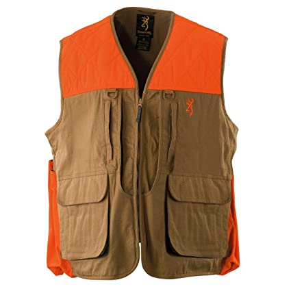 e983e8ab5bd54 Amazon.com : Browning Pheasants Forever Upland Vest, Field Tan ...